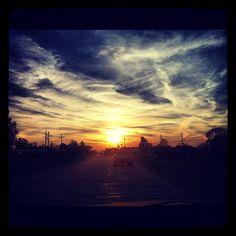 Sunset on Rosedale Road in Port Allen.