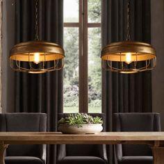 (219.88$)  Buy here - http://ai1mf.worlditems.win/all/product.php?id=32790421697 - Loft Industrial Iron Pendant Lamp Bar Cafe Dinning Room Retro Suspension Light Vintage Pendant Light Dia45cm