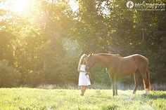 She knows that her horse is her life when he/she loves to take pictures with her.
