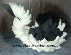 Origami, Napkin Folding, Deco Table, Service, Napkins, Tables, Facebook, Swan, Towels