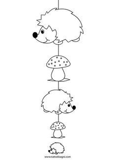 Risultati immagini per bouwkaarten kleur Fall Paper Crafts, Autumn Crafts, Autumn Art, Felt Crafts, Diy And Crafts, Crafts For Kids, Hedgehog Craft, Cute Hedgehog, Basket Crafts