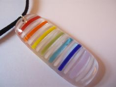 Somewhere Over The Rainbow  Original Fused Glass by TheGlassMeltz