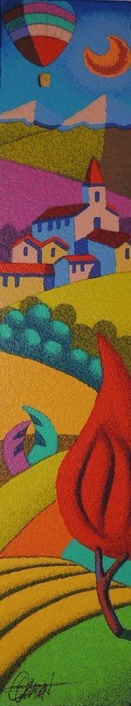 STEFANO CALISTI - la pianta rossa - serigrafia su tavola - dimensioni 10x50 cm
