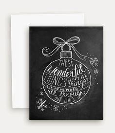 Weihnachtskarte  Urlaub Grusskarte  Tafel von LilyandVal auf Etsy