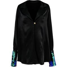 SINCE THEN Black Sequin Jacket   Bohointernal.com