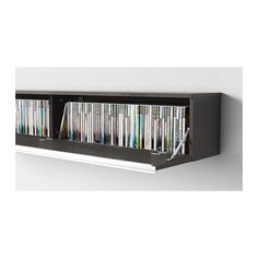BESTÅ BURS Wall shelf - high gloss gray - IKEA we need a custom one that we can also hide the dvd player in so maybe a framed screen in front  sc 1 st  Pinterest & 17+ Unique and Stylish CD and DVD Storage Ideas For Small Spaces ...
