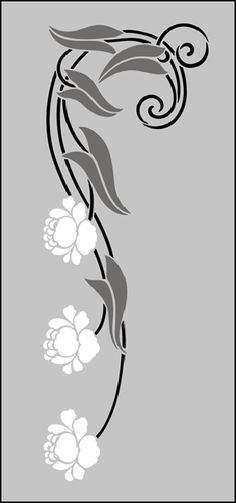 ♔ FLOWER ROSE VINE SILHOUETTE SVG ART NOUVEAU MOTIF NO 66, AMAZING IMAGES, FOLLOW LINK.  #CRICUT, #CRICUTEXPLORE