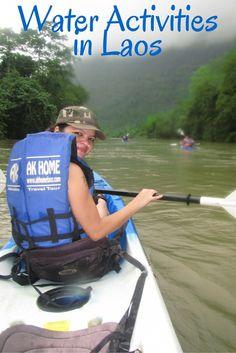 Water activities in vang vieng, Laos.