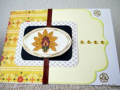 Handmade card with yellow colour theme