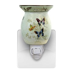 Butterfly Mult-Color Scentsy Plug In Warmer Bulb Included #Scentsy #ButterflyVase