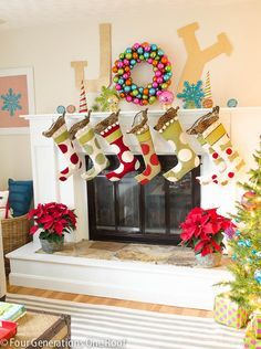 How to make a Christmas Joy Sign using Elmers foam board and Martha Stewart paint. Simple and quick tutorial to add Christmas cheer above your fireplace mantle or any wall.