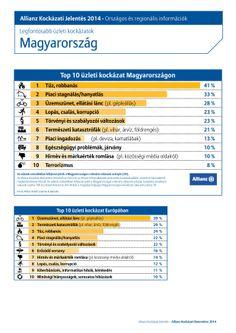 Allianz Risk Barometer 2014 - magyarországi statisztikák magyarul