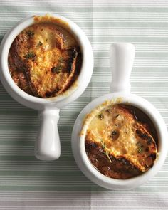 Vegetarian French Onion Soup uses mushrooms instead of beef stock