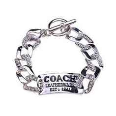 Coach Logo plate Silver Bracelets BZM