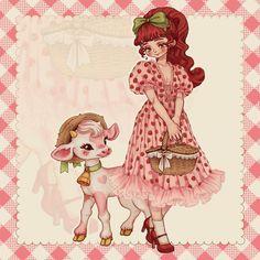 Wedding Strawberries, Strawberry Wedding, Strawberry Dress, Dress Drawing, Disney Drawings, Drawing Reference, Aesthetic Anime, Sailor Moon, Cute Art