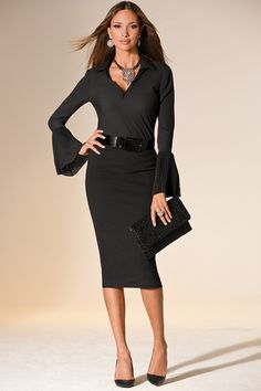 Ponte pencil skirt in  from Boston Proper on shop.CatalogSpree.com, your personal digital mall.