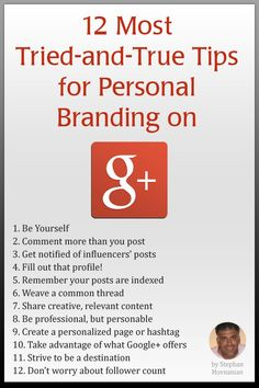 Keys to success for a branding strategy on Google+ via #12most