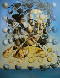 The viewers eye is tricked with how each individual modeled sphere acts as its own image that creates the larger face - Salvador Dali