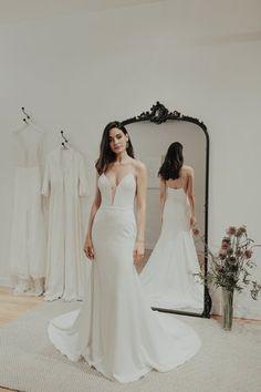 Sarah Seven — Heart Aflutter Bridal Boutique Sexy Wedding Dresses, Designer Wedding Dresses, Bridal Dresses, Wedding Gowns, Prom Dresses, Wedding Outfits, Wedding Attire, Wedding Ceremony, Long Sleeve Wedding