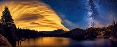 Bear Lake Night Panorama (Rocky Mountain National Park, Colorado).