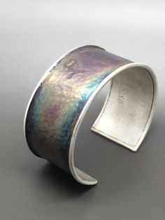 Oxidized sterling silver cuff by cdsodesigns