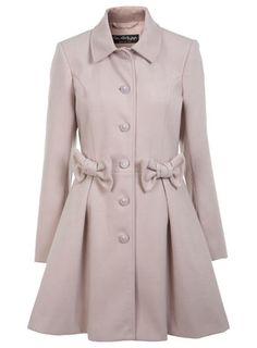 Manteau chair avec nœud - Manteaux & Vestes  - Vêtements