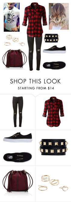 """""""Roman Reigns: you wear flannel and cut your hair"""" by dpclma ❤ liked on Polyvore featuring rag & bone, LE3NO, Vans, Valentino, Deux Lux, MANGO and WWE"""