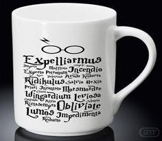 Harry Potter Black Magic Spells Black white New Hot Mug White Mug