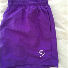 Vintage Purple Shorts Vintage, women's size large shorts, could be worn normally day to say, workout/ athletic. With tags.  100% nylon w/ lining. Color: neon purple. Brand: UZZI Amphibious Gear (USA MADE) Uzzi Shorts