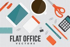 Check out Flat Office by enthdesign on Creative Market