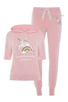 Unicorn Fashion, Unicorn Outfit, Unicorn Clothes, Girl Fashion, Fashion Outfits, Womens Fashion, Cute Pjs, Summer Outfits For Teens, Girl Sleeves