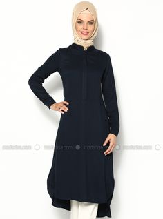 Belmando Long Tunic - Navy Blue - CML Collection