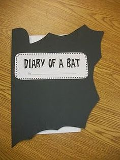 Read Diary of a Worm, Diary of a Spider, etc. and then students write their own Diary of a Bat at Halloween time. Love the cover on this one!