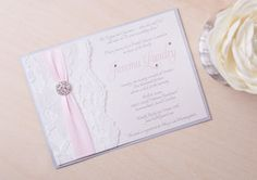 JEMMA  Lace Bridal Shower Invitation  Wedding by peachykeenevents, $5.50