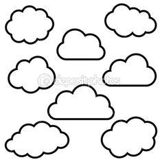 nubes de fondo — Ilustración de stock #43617217