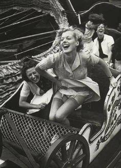 Vintage Nylons Upskirt rollercoaster