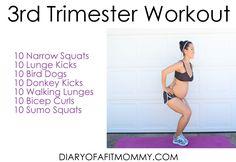 3rd Trimester Pregnancy Workout