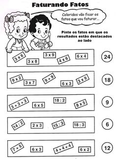 110 Atividades de Matemática para 3º Ano do Ensino Fundamental - Online Cursos Gratuitos School Frame, Addition Worksheets, 2nd Grade Math, Comics, Nova, Kids Math, Classroom Management, Multiplication Tables, Index Cards
