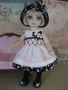 """NEW 5 piece Patsy Ann Estelle Tonner 10"""" doll outfit called Pink Parfait"""