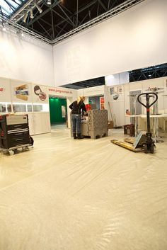 Aufbau des Messestandes der Jung Bonbonfabrik auf der 51. PSI vom 09. - 11. Januar 2013 auf dem Messegelände in Düsseldorf