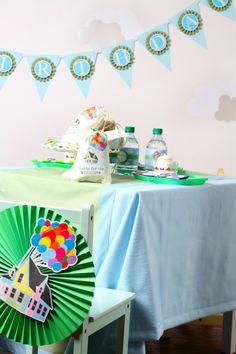 Disney's Up themed birthday party via Kara's Party Ideas KarasPartyIdeas.com Printables, cakes, invitation, cupcakes, desserts, and MORE! #disneysup #genderneutralparty #karaspartyideas (21)