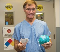 NCH doctor develops new surgical mask What we are talking about is called a surgical mask/respirator #surgicalmask