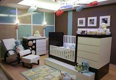 Inspiratie voor bruine babykamer