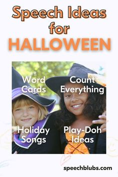 Let's use Halloween as a way to teach new vocabulary while engaging in fun activities! Learning through play is one of the most effective tools to use as a parent or educator. Try it today! Speech Therapy Activities, Infant Activities, Learning Through Play, Fun Learning, Holiday Activities For Kids, Holiday Words, Halloween Words, Kids Songs, Toddler Preschool