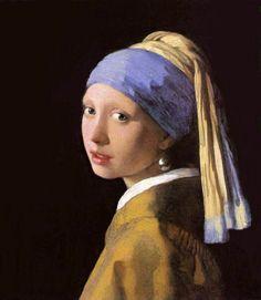 Vermeer -Girl with the pearl earring. Vermeer gebruikte het dure pigment Lapis Lazulli, het blauw van de doek, dat maar op een paar plaatsen in de wereld te vinden is. Het gebruik van dure pigmenten zorgde er ook voor dat een schilderij uiteindelijk ook meer geld op moest leveren.