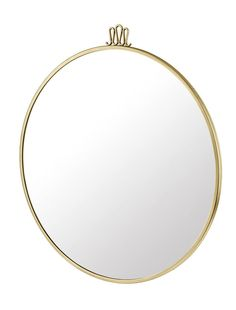 GUBI // Randaccio mirror in antique brass and cm by Gio Ponti Gio Ponti, Antique Brass, Mirrors, September, Collections, Interiors, News, Antiques, Gold