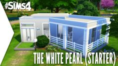 THE SIMS 4 SPEED BUILD #176 - THE WHITE PEARL - STARTER HOME (BASE GAME)