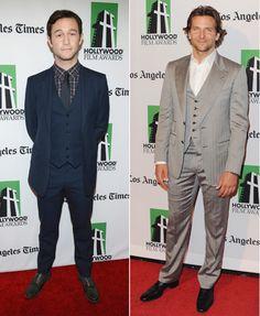Joseph Gordon-Levitt and Bradley Cooper Show Two Ways to Wear a Three-Piece #menswear