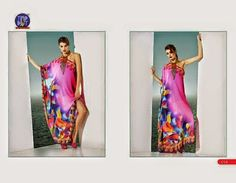 Beautifully designed indo-western Georgette Kurti digitally Printed Pink colored. Available in sizes from S to XL