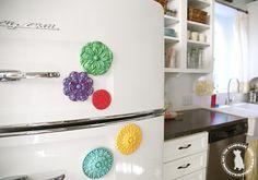 easy diy fridge magnets - the handmade homethe handmade home